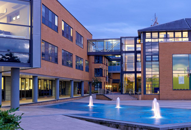 Surrey Business School Water sprays